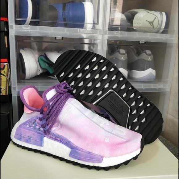 best sneakers 26952 027f6 PHARRELL X ADIDAS NMD HU TRAIL HOLI PINK GLOW NWT